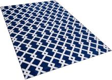 Kuvioitu sininen matto 140x200 cm SERRES
