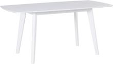 Jatkettava ruokapöytä 120/160 x 80 cm valkoinen SANFORD