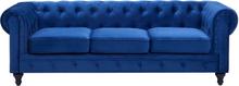 3-istuttava sohva samettinen koboltinsininen CHESTERFIELD
