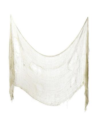 Skummel Dekorasjon til Halloween - Beige Netting Ca 75x300 cm