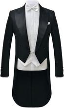 Vidaxl herr white tie set med väst och fluga large