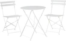 Puutarhapöytä ja kaksi tuolia valkoinen FIORI