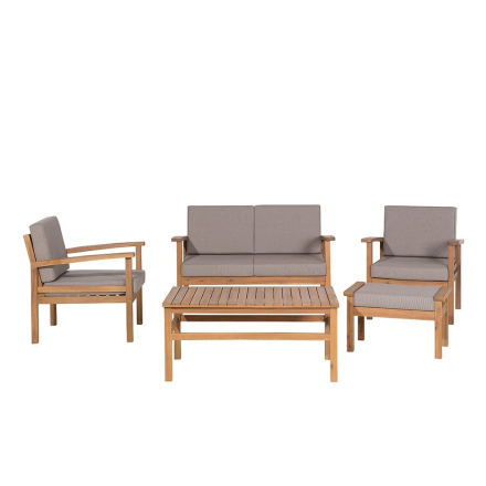 Puinen istuinryhmä pihalle - Sohva, 2 nojatuolia, rahi ja sohvapöytä - MANILA