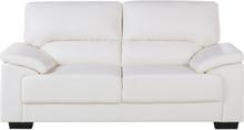 2-istuttava sohva keinonahkainen luonnonvalkoinen VOGAR
