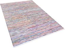 Käsintehty puuvillamatto 160x230 cm valkoinen/monivärinen BARTIN