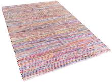 Käsintehty puuvillamatto 140x200 cm valkoinen/monivärinen BARTIN