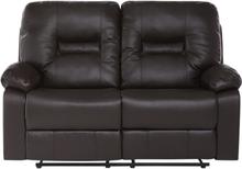 2-istuttava säädettävä keinonahkainen sohva ruskea BERGEN