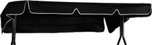 Hammocktak standard svart PVC-plast