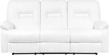 3-istuttava säädettävä keinonahkainen sohva valkoinen BERGEN