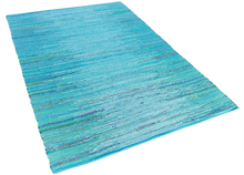 Puuvillamatto sininen 140x200 cm MERSIN
