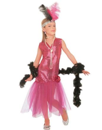1920's Showgirl - Rosa barnekostyme