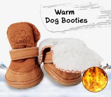 Haushund Stiefeletten mit abnehmbarem Verschluss