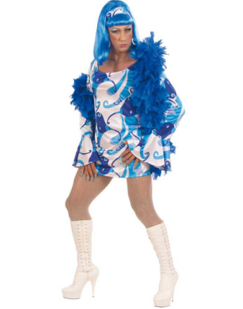 Groovy Chic Drag Queen Kostyme - Blå