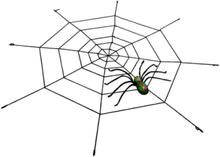 Edderkopp m/Stort Edderkopp Nett - Grønn/Svart