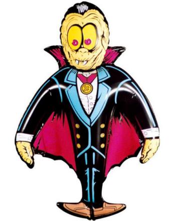 Grev Dracula 78 cm - Oppblåsbar Figur