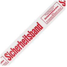PVC Warnband mit Standardaufdruck ''Sicherheitsband''