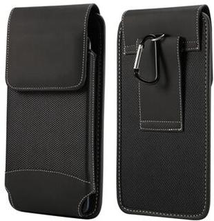 6,5 tums Universal slitstark Oxford väska Fodral Fodral med bältesklämma för iPhone Samsung Huawei Etc. - Svart