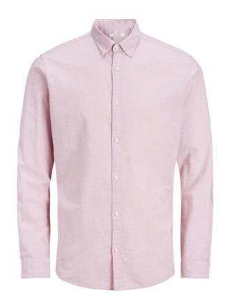 JACK & JONES Cotton-linen Long Sleeved Shirt Men Pink