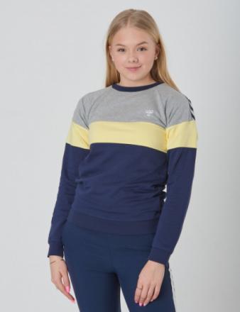 Hummel, BROOKLYN SWEATSHIRT, Blå, Trøjer/Cardigans till Pige, 164 cm - KidsBrandStore