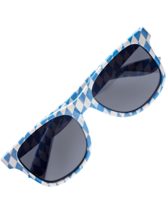 Oktoberfest Briller - Blå og Hvit Wayfarer Solbriller