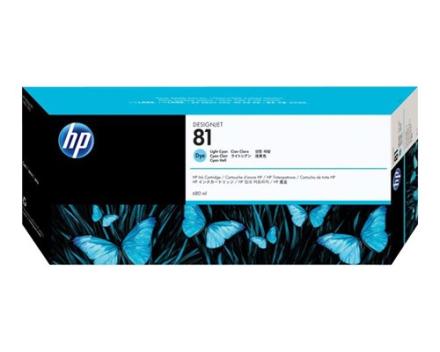 HP Blæk Ljus Cyan No.81, DJ 5000/5000PS/5500 (C4934A)
