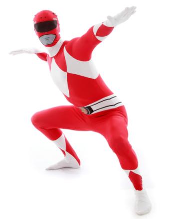 Morphsuit Power Ranger Red - Kostyme