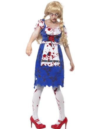 Ølfestivalens Zombie Dame - Oktoberfest Kostyme
