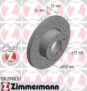Bremseskive ZIMMERMANN 150.2900.52