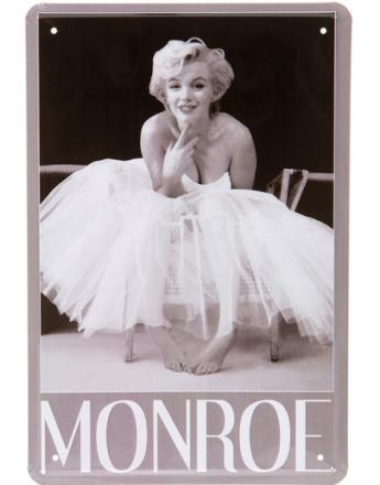 Beautiful Marilyn Monroe - metallskylt 30x20 cm