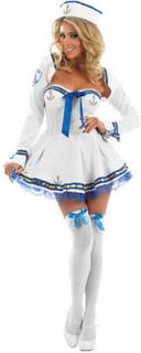 Sailor Flørt Kostyme - STORE STØRRELSER