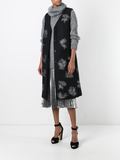 Jil Sander sleeveless embroidered coat - Black