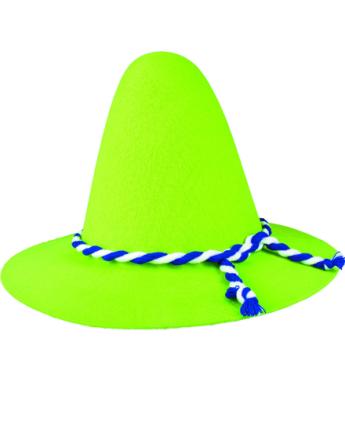 Bavarian Hatt - Grønn Oktoberfesthatt med Bånd