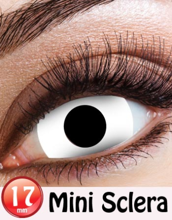 White Witch - All White Mini Sclera 17 mm Crazylinser