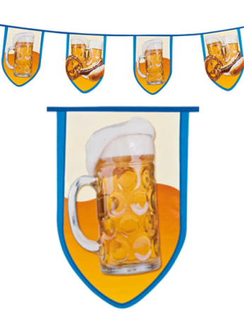 8 Meter Oktoberfest Banner med Store Motiver - Beer Party