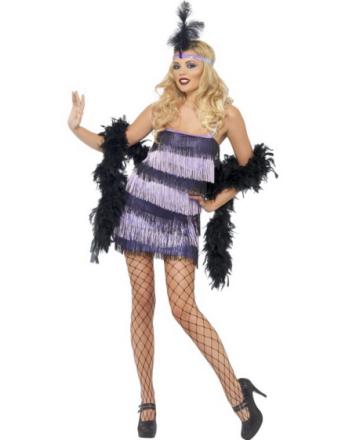 Lekker Lilla Flapper Kjole - Kostyme