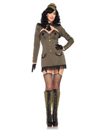 Pin Up Army Girl - Komplett Kostym
