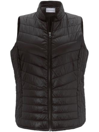 Sporty quiltet vest Fra JUNAROSE sort - Peter Hahn