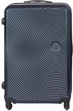 Stor kuffert - Blå hardcase rejsekuffert - Eksklusiv kuffert med smart design (ekstra plads)