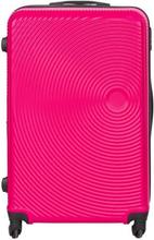 Stor kuffert - Pink hardcase rejsekuffert - Eksklusiv kuffert med smart design