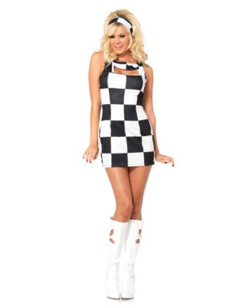 60's Checker Race Doll - Damkostym
