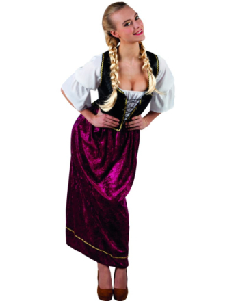 Pent Oktoberfest Kostyme til Dame