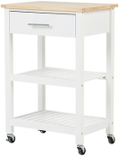 Serveringsbord vit/ljusbrun HIUMA