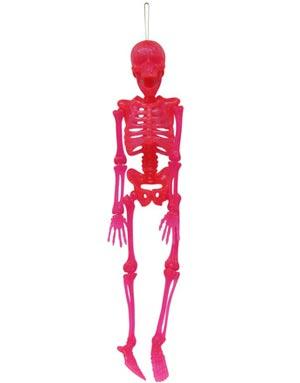Neon Rosa Hengende Skjellet 38 cm