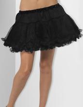 Petticoat - Svart Underskjørt med Satinbånd 30 cm