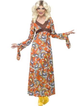 70-Tals Paisleymönstrad Lång Hippieklänning