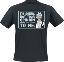 Rick And Morty - Your Opinion - T-shirt - svart