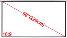 vidaXL manual projektorlærred 200 x 113 cm mat hvid 16:9 væg- og loft montering