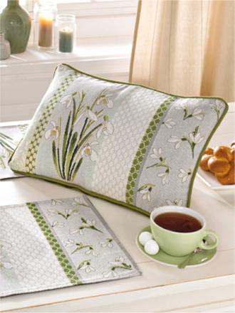 Gobelin-Kissen Sander grün