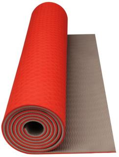 Avento Fitness/Yoga måtte Fluorescerende Orange/Beige 41WC