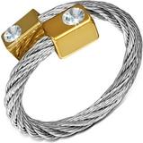 California - Silverfärgad Ring i Tvinnat Stål